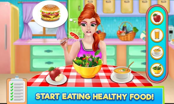 High School Sports Girl: Fat to Fit Fitness Game screenshot 1