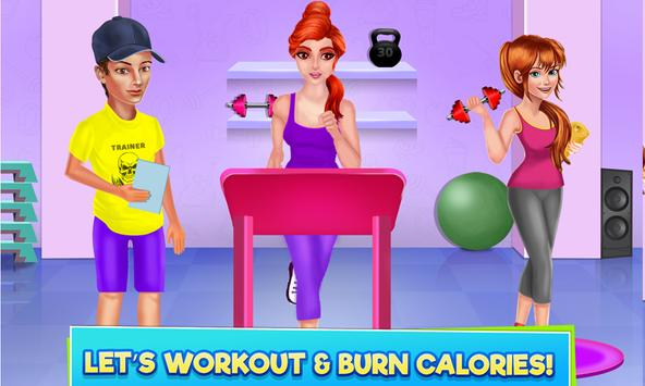 High School Sports Girl: Fat to Fit Fitness Game screenshot 3