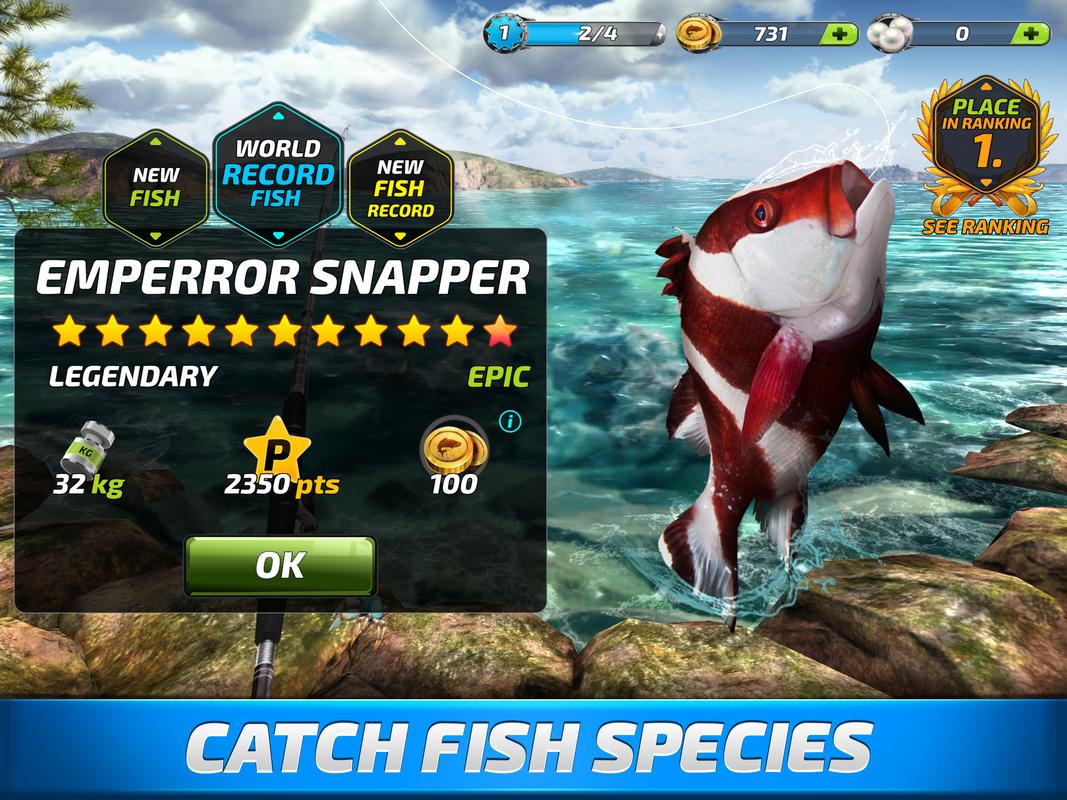 Fishing clash catching fish game bass hunting 3d apk for Free fish games