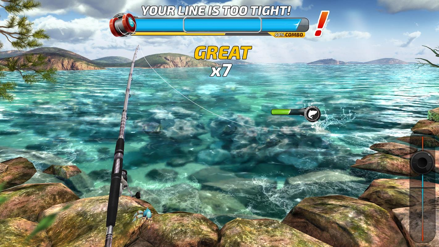 Fishing clash catching fish game bass hunting 3d apk for Fish catching games