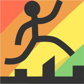 Run stickman jump icon