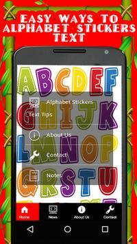 Alphabet stickers Text Tips screenshot 2