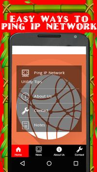 Ping IP Network Utility Tips poster