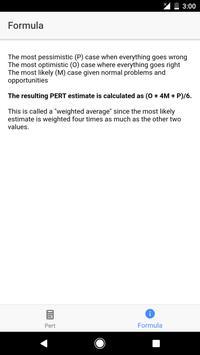 Pert Calculator screenshot 1
