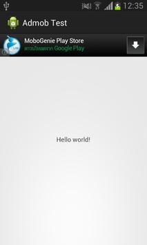 Admob Testing apk screenshot