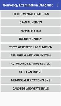 Neurology Examination Checklist poster