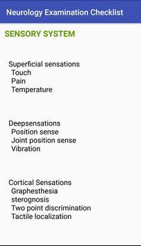 Neurology Examination Checklist screenshot 1