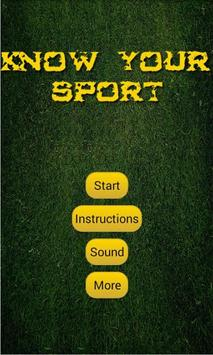 Know Your Sport poster