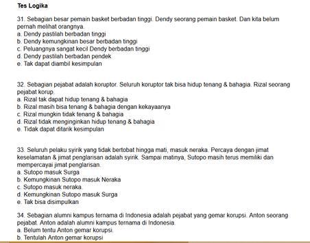 Tes TPA Online apk screenshot