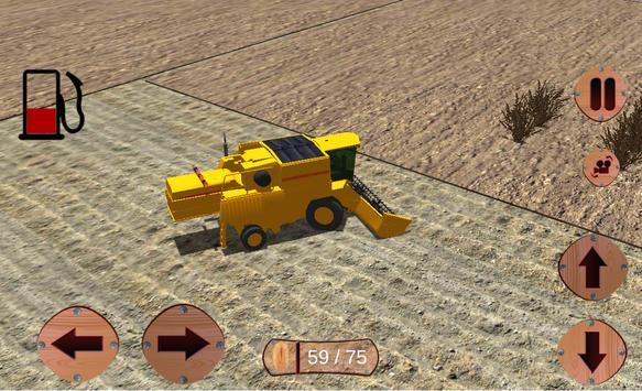 pertanian sim traktor bukit syot layar 15