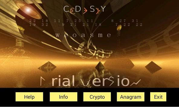 Code Spy Trial Crypto-Anagrams poster