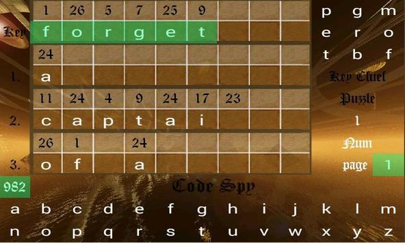Code Spy Trial Crypto-Anagrams apk screenshot