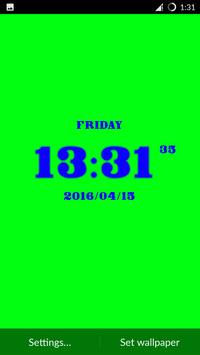 Digital LED Clock LWP apk screenshot