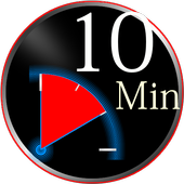 10 minutes timer with progress notification icon