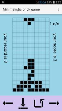 Minimalistic brick game poster