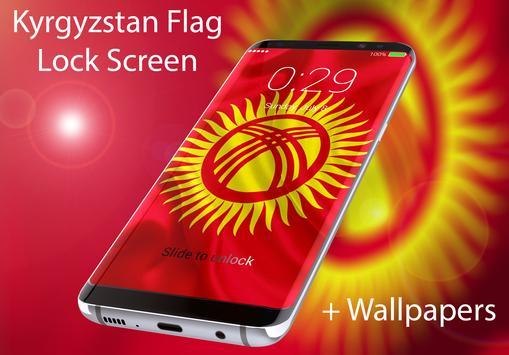 Flag of Kyrgyzstan Lock Screen & Wallpaper poster