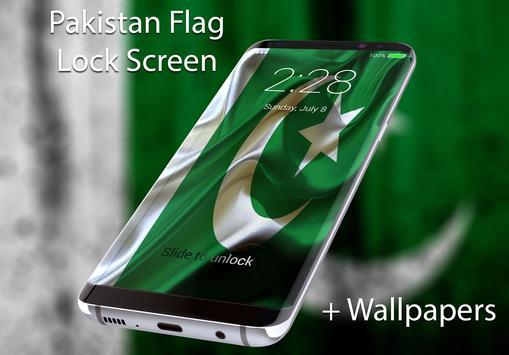 Flag of Pakistan Lock Screen & Wallpaper poster