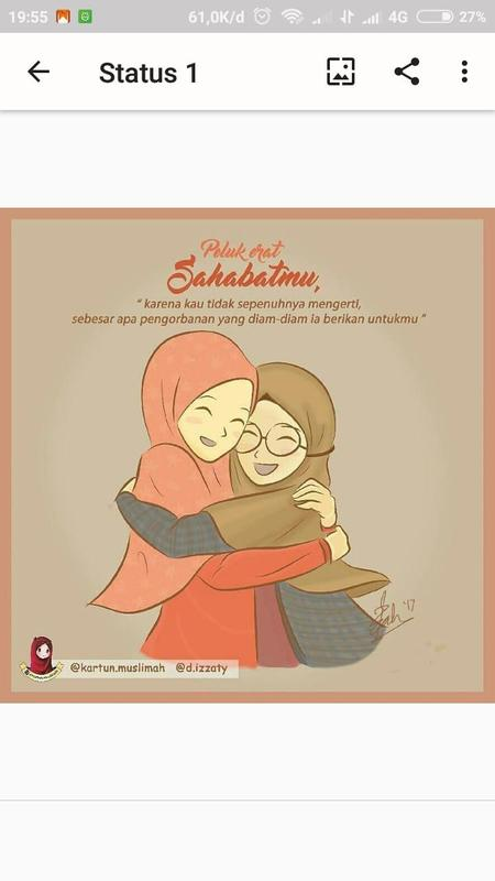 Status Wa Hijrah Kartun Lucu Muslimah Android Apk Download Screenshot