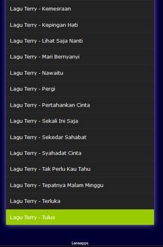Lagu Terry Mp3 Terlengkap apk screenshot