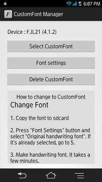 CustomFont Manager poster