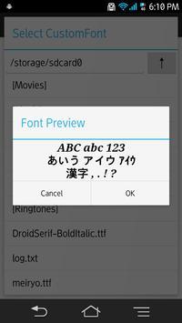 CustomFont Manager apk screenshot