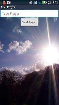 Text Prayer poster