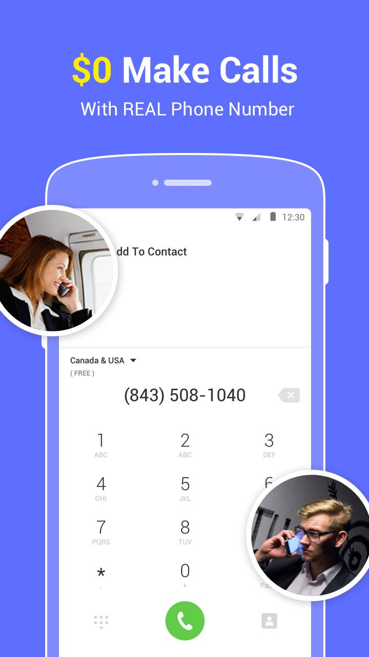 Text Up free texting+call, burner phone number app for Android - APK