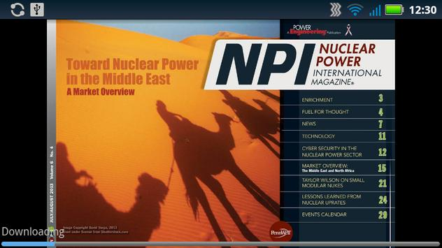 Nuclear Power Int. Magazine poster