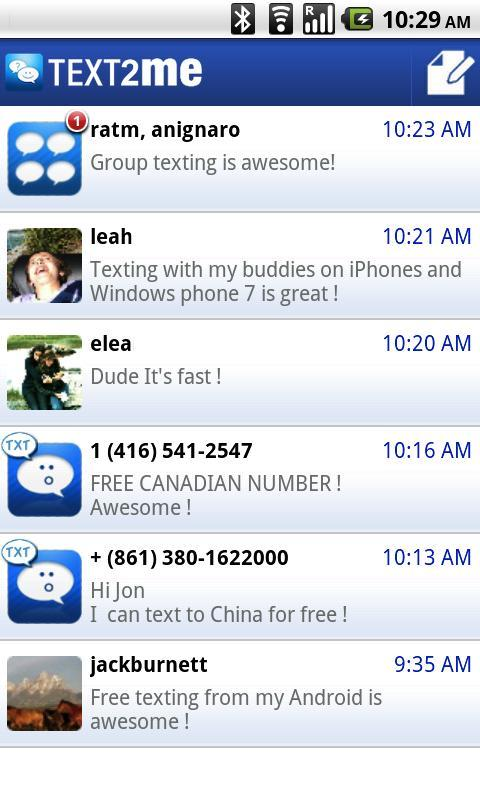 Text2Me - Free SMS for Android - APK Download