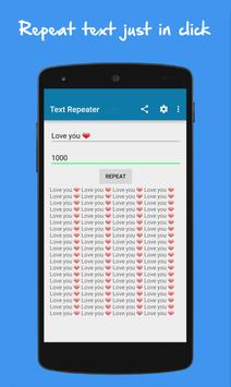 Text Repeater screenshot 2