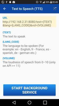 Text to Speech (TTS) apk screenshot