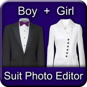 Boy and Girl Suit Photo Editor icon