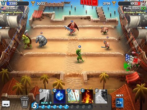 Castle Crush: Clash in a Free Strategy Card Games apk screenshot