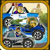 Police patrol on the road icon