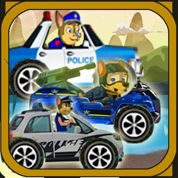 Police patrol on the road poster