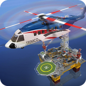 Offshore Oil Helicopter Cargo icon