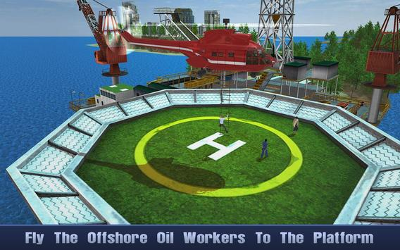 Offshore Oil Helicopter Cargo poster