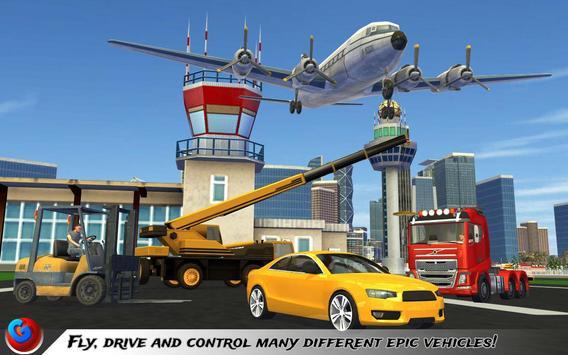 Car Transport Plane Pilot SIM poster