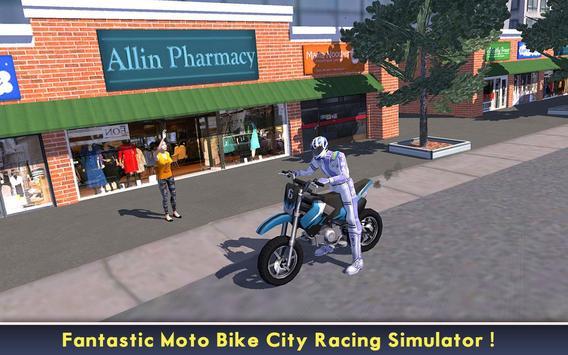 Power Racer City Moto Bike SIM poster
