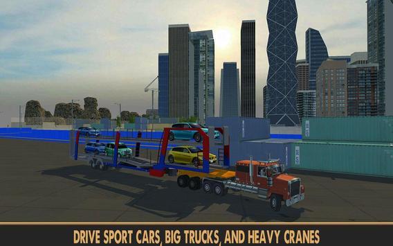 Practise Crane & Labor Truck apk screenshot