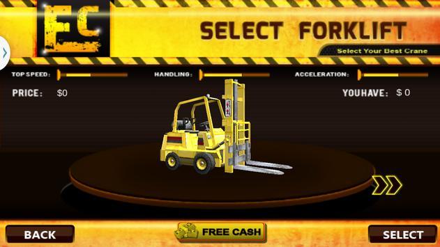 Forklift Simulator 3D 2017 poster