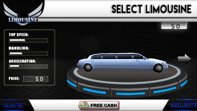Limo Driving Simulator 3D 2017 screenshot 1