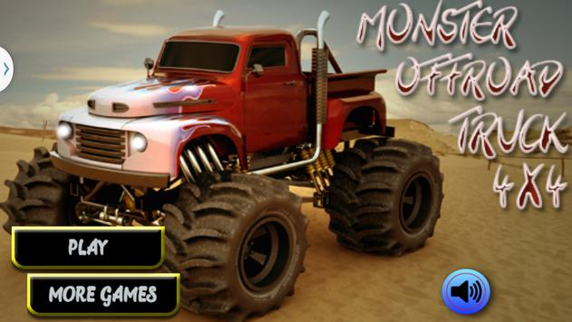 Monster Truck Offroad 4x4 poster