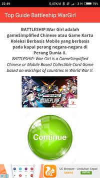 Top Guide Battleship:War Girl apk screenshot