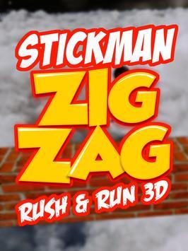 Stickman ZigZag Rush Run 3D screenshot 11