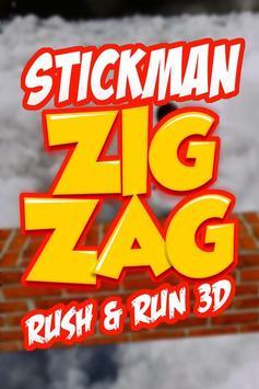 Stickman ZigZag Rush Run 3D screenshot 5