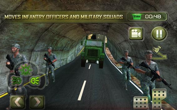Infantry Transport Trucker 3D- Offroad Military screenshot 4