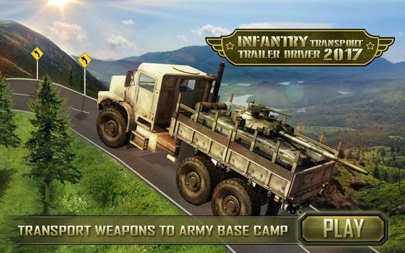Infantry Transport Trucker 3D- Offroad Military screenshot 5