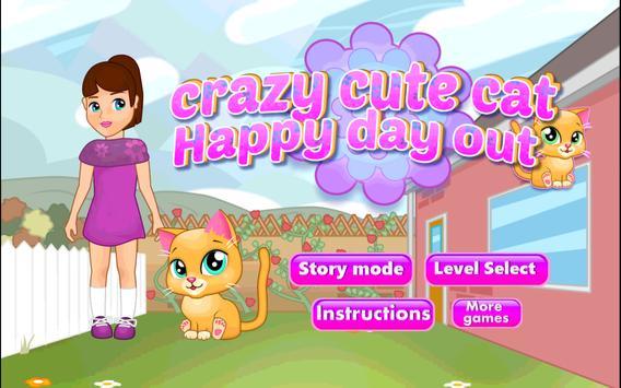 🐈Crazy Cute Cat Happy Day Out apk screenshot