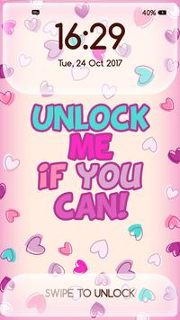 Girly Lock Screen Wallpaper With Quotes Poster